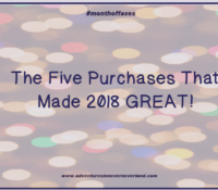 The Five Purchases That Made 2018 GREAT!