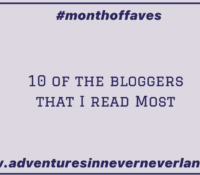 The Top 10 Bloggeers That I Read the Most